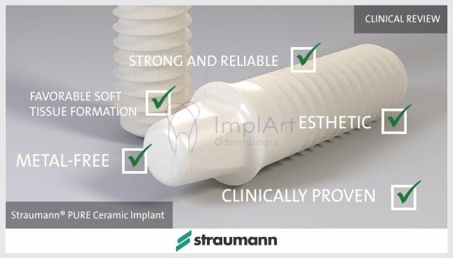 Os Implantes Pure Ceramic Straumann já estão disponíveis na ImplArt